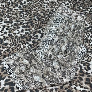 Snake Print Trousers - Size 8